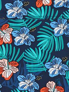 Camisa de color azul marino con estampado floral, para niño LOBONSHIRT / 21S902W1CHM705
