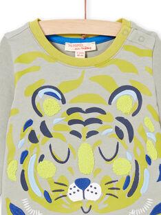 Camiseta caqui y verde para niño MUKATEE3 / 21WG10I1TMLG622