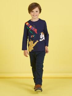 Camiseta de color azul marino para niño MOMIXTEE5 / 21W902J4TML717