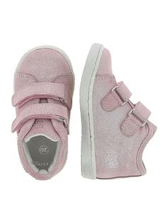 Baby girls' leather city trainers. CBFBASPAP / 18SK37W2D3F030