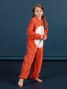 Sobrepijama con capucha con estampado de zorro de pelo artificial para niña MEFASURFOX / 21WH1192D4F420