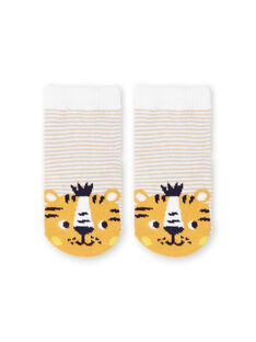 Calcetines blancos y amarillos de rayas para bebé niño LYUBALCHO / 21SI10O1SOQ000