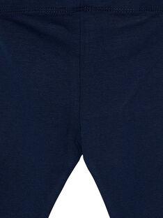 Leggings de color azul marino con lazos pequeños para bebé niña JYIESLEG1 / 20SI0962D26070