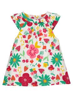 Vestido de popelina para bebé niña FIYEROB2 / 19SG09M2ROB000
