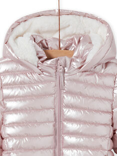 Anorak impermeable rosa metalizado para niña MALONDOUN1 / 21W90158D3ED300