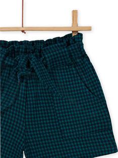 Short paperbag de punto milano de cuadros para niña MATUSHORT / 21W901K1SHO070