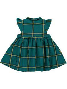 Baby girls' checked short-sleeved dress DIVEROB4 / 18WG0972ROB099