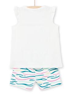 Pijama de color crudo, para niña LEFAPYJFLE / 21SH11C2PYJ001