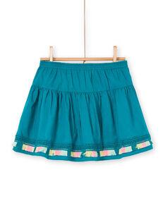 Falda reversible de color azul LAVERJUP1 / 21S901Q1JUP001