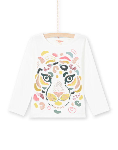 Camiseta de color crudo y amarillo para niña MAKATEE3 / 21W901I2TML001