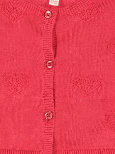 Cárdigan de algodón para bebé niña FICOCAR3 / 19SG0983CAR050