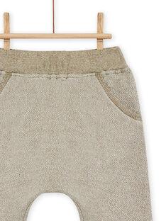 Pantalón verde caqui con estampado de animal para bebé niño MUKAPAN1 / 21WG10I2PAN604