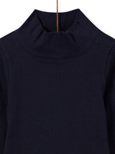 Jersey fino azul marino para niña MAJOSOUP1 / 21W901N5SPL070