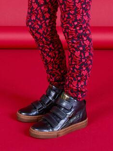 Zapatillas altas de color azul marino metalizado para niña MABASMETAL / 21XK3555D3F070