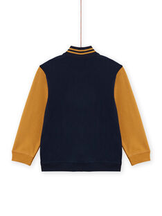 Cárdigan amarillo y azul marino para niño MOTUGIL1 / 21W902K1GIL705