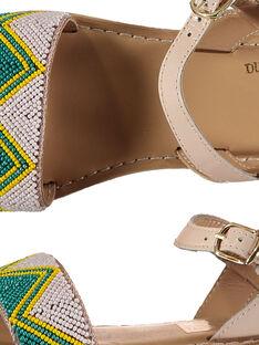 Sandalias de piel con cuentas para niña FFSANDJU / 19SK35D4D0E301