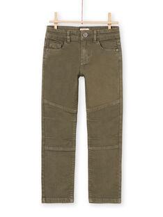 Pantalón liso de color caqui para niño MOKAPAN / 21W902I1PAN628