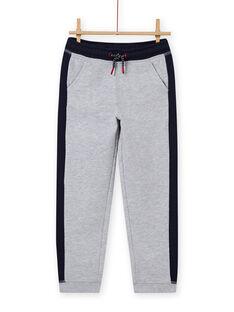 Pantalón de chándal gris y azul marino para niño MOJOJOB3 / 21W90211JGBJ922