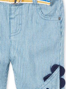 Vaquero de rayas con cinturón para bebé niño LUCANPAN1 / 21SG10M1PANP272