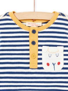 Camiseta de rayas de manga larga remangable para bebé niño MUJOTUN2 / 21WG1024TML713