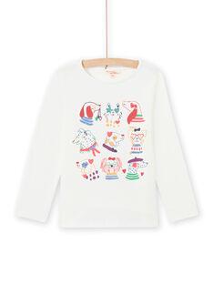Camiseta de manga larga con estampado de fantasía para niña MAMIXTEE5 / 21W901J1TML001