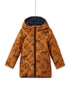 Anorak reversible con capucha de tejido chambray para niño MOGROBLOU2 / 21W90253BLOP267