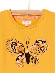 Vestido amarillo LAPOEROB2 / 21S901Y2ROB107