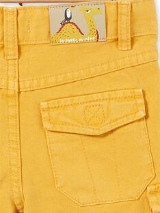 Bermudas de color amarillo mostaza, para niño LOTERBER5 / 21S902V5BERB101