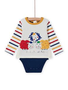 Body-camiseta multicolor con estampado de ovejas para bebé niño MUMIXBOD2 / 21WG10J1BOD001