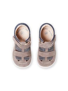 Salomés grises para bebé niño LBGSALGREY / 21KK3831D13940