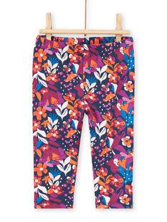 Leggings con estampado floral de colores para bebé niña MYIPALEG1 / 21WI09H2CALD319