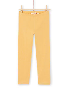Leggings amarillos para niña MYAJOLEG2 / 21WI0112CALB106