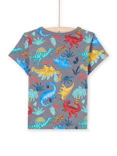 Camiseta de color gris jaspeado con estampado de dinosaurio para niño MOPATI3 / 21W902H1TMCJ913