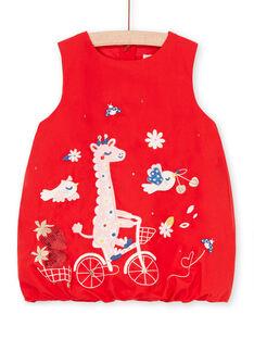 Vestido rojo para bebé niña LICANROB4 / 21SG09M2ROBF505
