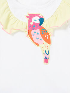 Pijama blanco para niña LEFAPYJFLY / 21SH11C7PYJ000