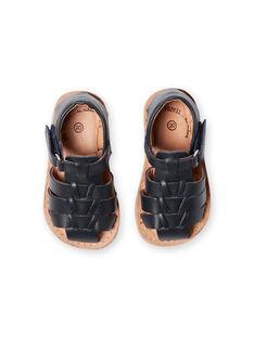 Sandalias azul marino para bebé niño LBGSANDENZO / 21KK3859D0E070