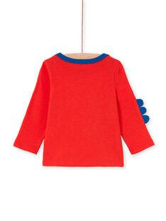 Camiseta roja y azul para bebé niño LUCANTEE1 / 21SG10M1TMLF505