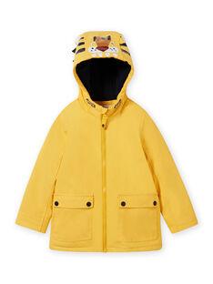 Impermeable amarillo con estampado de tigre para niño MOGROIMP1 / 21W90251D59B116