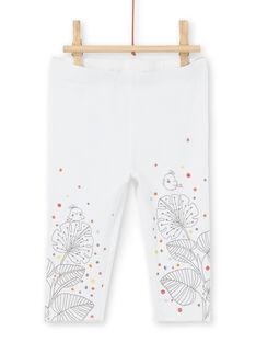 Conjunto de vestido de manga corta y leggings para niña recién nacida LOU1ENS1 / 21SF03H2ENS000