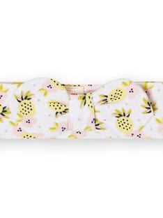 Cinta para el pelo de color blanco, amarillo y rosa, para bebé niña LYIBALBAN1 / 21SI09O1BAN000