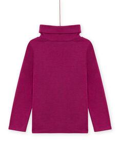 Jersey fino violeta de twill con estampado de fantasía para niña MASKISOUP / 21W901R1SPLH704