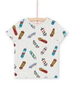 Camiseta gris jaspeado y azul - Niño LOPOETI1 / 21S902Y2TMCJ920