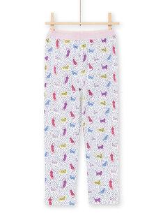 Pijama de lunares y estampado de leopardos para niña MEFAPYJPAN / 21WH1134PYJ001