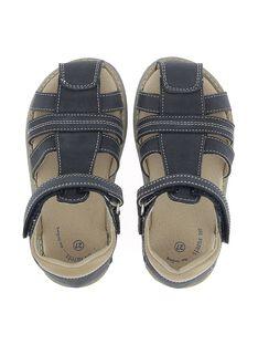 Boys' leather sandals CGSANDREG / 18SK36W2D0E070