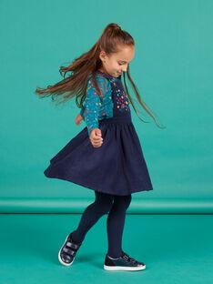 Vestido-peto de color azul marino para niña MATUROB4 / 21W901K3ROB070