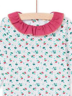 Body de manga larga con cuello avolantado y estampado floral para bebé niña MITUBOD / 21WG09K1BOD001