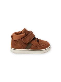 Zapatillas de color camel de piel vuelta para bebé niño MUBASIMA / 21XK3871D3F804