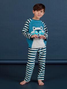 Pijama gris con estampado de mapache para niño MEGOPYJRAC / 21WH1286PYJC235