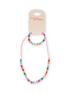 Collar de cuentas de corazones multicolor para niña MYAJOCOU1 / 21WI01S1CLI961