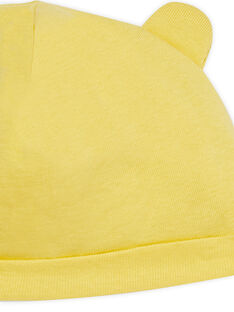 Gorro de color amarillo con orejas para recién nacido LOU1BON2 / 21SF42H3BNA103